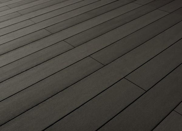 Terrafina WPC-Bodendiele massiv Design glatt graubraun
