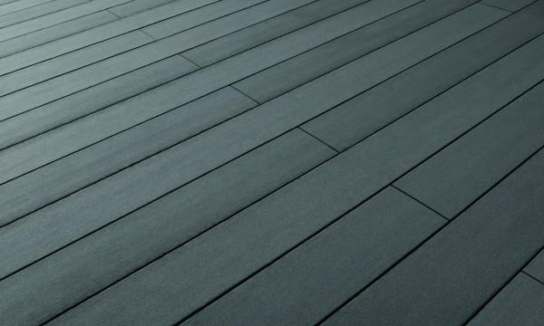 Terrafina WPC-Bodendiele massiv Design glatt graphit