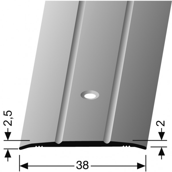 Übergangsprofil silber PF 438, 100 cm