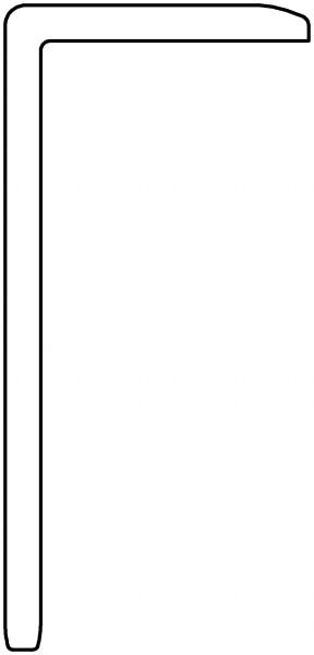 Terrafina WPC-Winkel 3,5 mm dunkelbraun