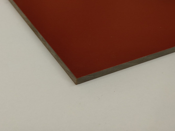 HPL-Vollkernplatten Rosso Lacca (braunrot)