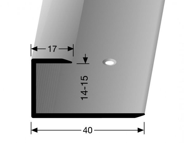 Gleitfugenprofil edelstahl PF 204, 15 mm