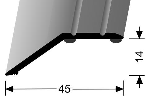 Ausgleichsprofil edelstahl PF 241, 90 cm