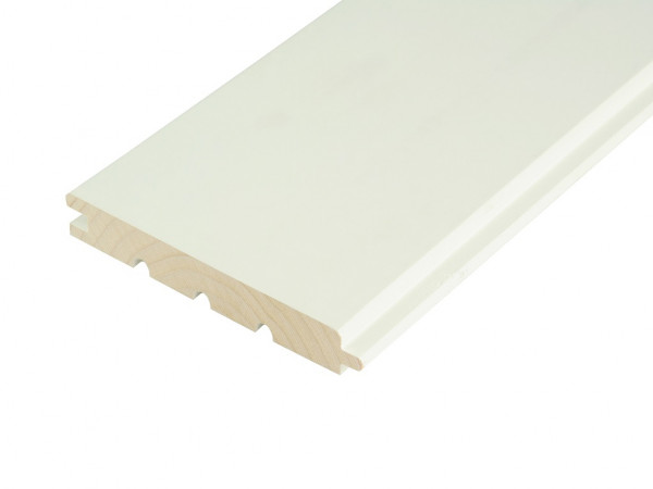 Profilholz Fichte Fasebretter Reinweiss