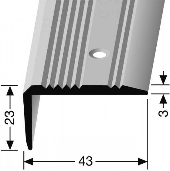 Winkelprofil silber PF 225, 100 cm