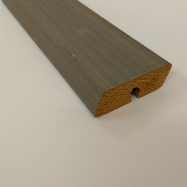 JSR-Rhombus Fassadenprofil Thermo Kiefer grau