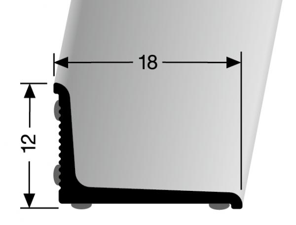 Wandabschlussprofil weiss PF 369, 270 cm