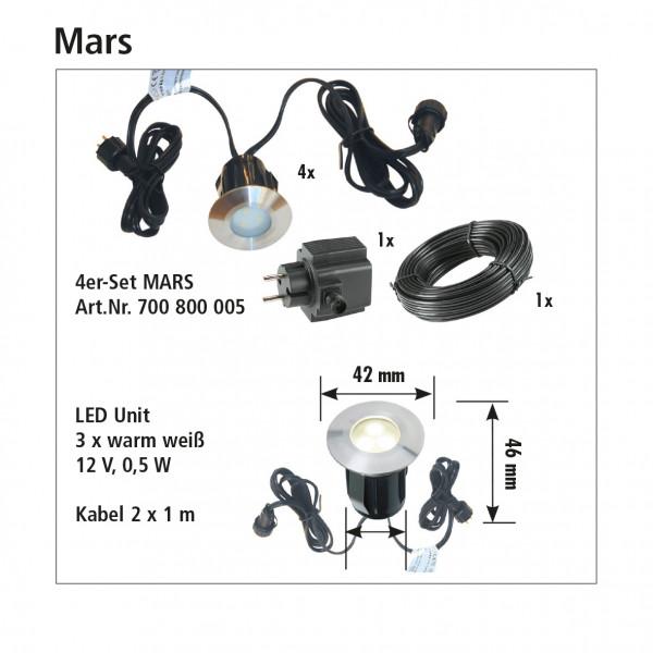 Einbauleuchtenset MARS 4er
